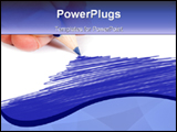 PowerPoint Template - Hand Coloring a paper in blue