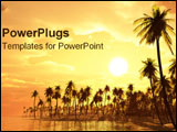 PowerPoint Template - A golden dream island.