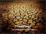 PowerPoint Template - dried land near brisbane