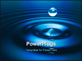 PowerPoint Template - 3d drop of water. Abstract background image