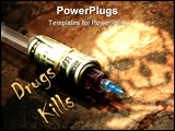 PowerPoint Template - Drug Addiction Concept