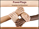 PowerPoint Template - four hands holding each other