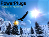 PowerPoint Template - Eagle soaring over forest