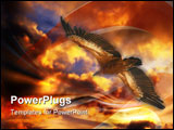PowerPoint Template - This eagel griffon was taken on European island Cres.