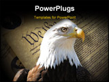 PowerPoint Template - Bald eagle over constitution