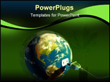 PowerPoint Template - Electrical cord plugging into planet Earth. Digital illustration.