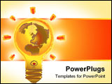 PowerPoint Template - save the planet illustrated lamp first design