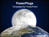 PowerPoint Template - moon behind planet earth