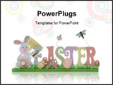 PowerPoint Template - A colorful Easter sign isolated over a white background