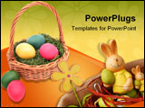 PowerPoint Template - easter basket