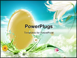 PowerPoint Template - Nice cartoon decoration with an egg and a flower