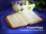 PowerPoint Template - easter lily and bible photographed in a studio