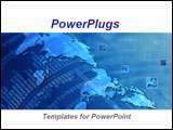 PowerPoint Template - verlapping of worldmap and financial reports. Ideal for presentations on international stock market
