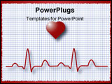 PowerPoint Template - symbolic representation of an ecg ekg