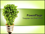 PowerPoint Template - Tree in lightbulb socket symbolizing ecology and eco environmental friendly energy