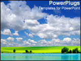 PowerPoint Template - Beautiful open clean landscape represents our ideal world.