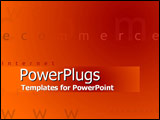 PowerPoint Template - Implications of hot e-commerce opportunities