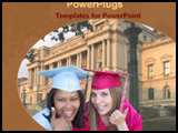 PowerPoint Template - two students in front of university