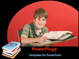 PowerPoint Template - a student enjoying his study