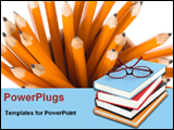 PowerPoint Template - books and pencils