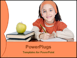 PowerPoint Template - girl doing homework