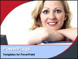 PowerPoint Template - happy college girl learning
