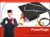 PowerPoint Template - medical student holding graduate certificate