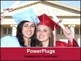 PowerPoint Template - happy graduate students