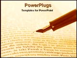 PowerPoint Template - showing book and pen