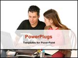 PowerPoint Template - students studying together