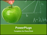 PowerPoint Template - green apple in front of blackboard