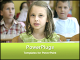 PowerPoint Template - students are in classroom
