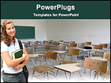 PowerPoint Template - student in a class room