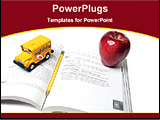 PowerPoint Template - toy car and apple on a book