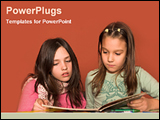PowerPoint Template - 2 kids reading