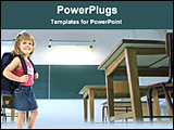 PowerPoint Template - kids on a class room