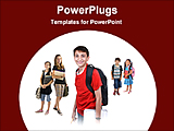 PowerPoint Template - students with books