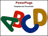 PowerPoint Template - image of alphabets