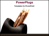 PowerPoint Template - artistic pencils in the case