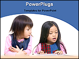 PowerPoint Template - students are in study room
