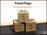 PowerPoint Template - three squire boxes of numeric value for education