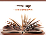 PowerPoint Template - a book is opened