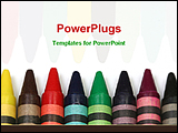 PowerPoint Template - color crayons for drawing