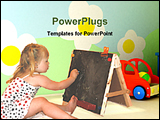 PowerPoint Template - a girl drawing on a chalkboard