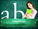 PowerPoint Template - a student in front of blackboard