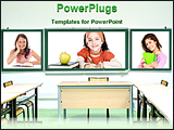 PowerPoint Template - a classroom with student images