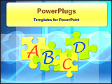 PowerPoint Template - puzzles of alphabets