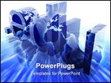 PowerPoint Template - Dot edu education internet web url worldwide illustration