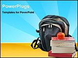 PowerPoint Template - student school supplier