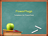 PowerPoint Template - black board with book